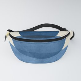 Abstract Shapes 37-Blue Fanny Pack