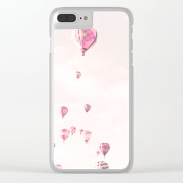Hot Air Balloons, Blush Clear iPhone Case