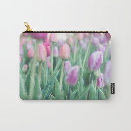Tulips in Shades of Pink Carry-All Pouch