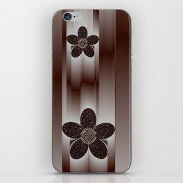 metal flower iPhone Skin
