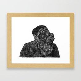 bubble face Framed Art Print