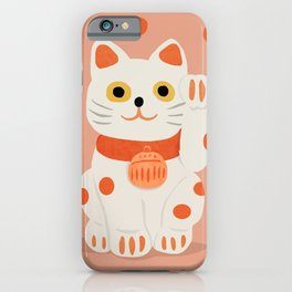 Abstraction_Lucky_Charm_Cat iPhone Case