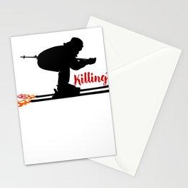 Ski speeding at Killington Stationery Cards