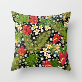 Tropical Dots Throw Pillow