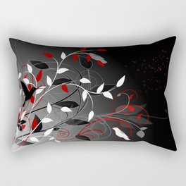 Nature in black, white and red. Rectangular Pillow