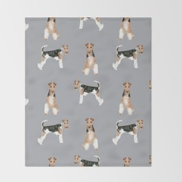 Wire Fox Terrier dog breed pure breed dog lover gifts Throw Blanket