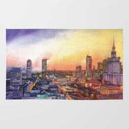 Sunset in Warsaw Rug