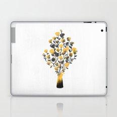Golden Flower In A Vase Laptop & iPad Skin