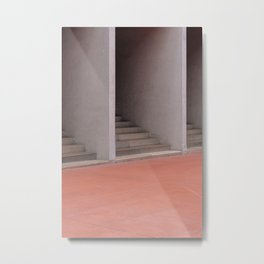 Gallaratese ᝢ Milano Italy travel photography art ᝢ abstract graphic pink stairs architectural photo Europe Metal Print