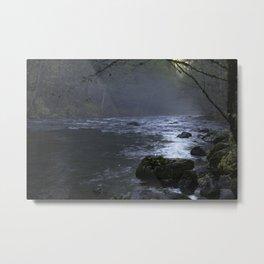Fog on the Mckenzie River Metal Print