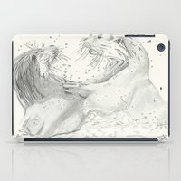otters iPad Cases featuring Playful Otters  by Jennifer Golla Art