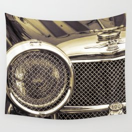 Classic Car Front Grille - Sepia Wall Tapestry