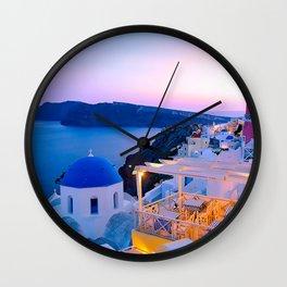 Santorini Sunset II Wall Clock