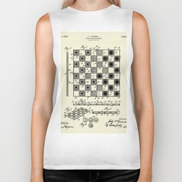Checker and Chess Board-1923 Biker Tank