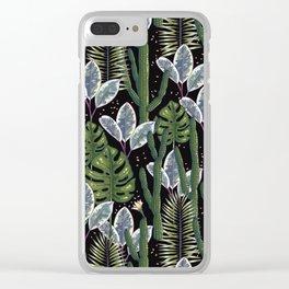 Tropical night dream. Clear iPhone Case