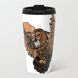 Approaching Owl Travel Mug