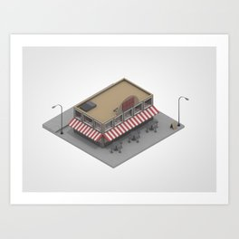 Giros Pizza Art Print