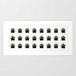 Bear Paws  Art Print