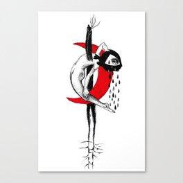 Red Crescent Canvas Print