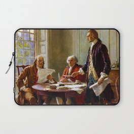 Writing The Declaration of Independence Laptop Sleeve