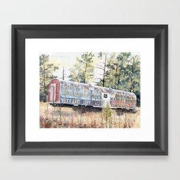 Brookhaven Train Sign Framed Art Print