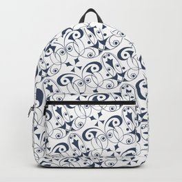 Gigi - Art Deco Geometry Indigo Backpack