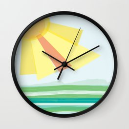 Wave after wave Wall Clock