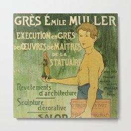 Emile Muller ceramist Paris Metal Print