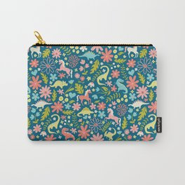 Dinosaurs + Unicorns Carry-All Pouch