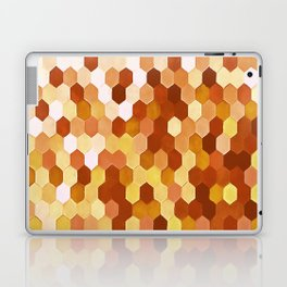 Honeycomb Pattern In Warm Mead and Honey Colors Laptop & iPad Skin