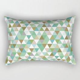 Earthy Triangle Pattern Rectangular Pillow