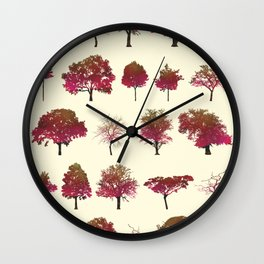 Autumn Trees Wall Clock