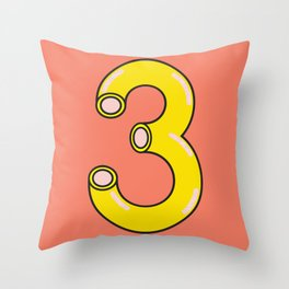 Macaroni 3 Throw Pillow