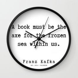 2  | Franz Kafka Quotes | 190909 Wall Clock