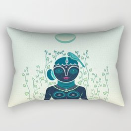 Indian woman Rectangular Pillow