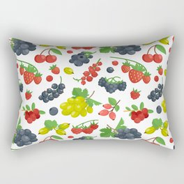 Colorful Berries Pattern Rectangular Pillow