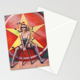 The Knife Thrower's Assistant Stationery Cards