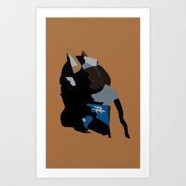 Airforce Fox Art Print