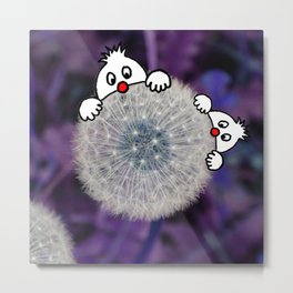 Fly with the dandelion Metal Print