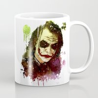 the joker Mugs featuring Joker by Sirenphotos