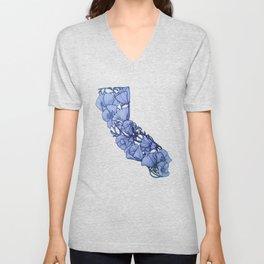 Blue California Unisex V-Neck