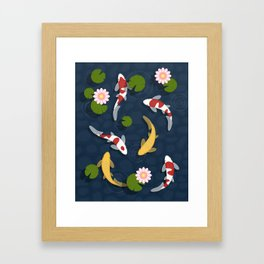 Japanese Koi Fish Pond Framed Art Print