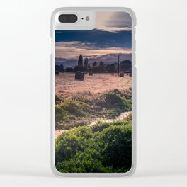 Hay Bales In The Morning Clear iPhone Case