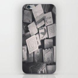 Vintage Wooden Blocks iPhone Skin