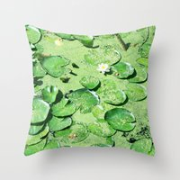 monet Throw Pillows featuring Almost Monet by BRITADESIGNS