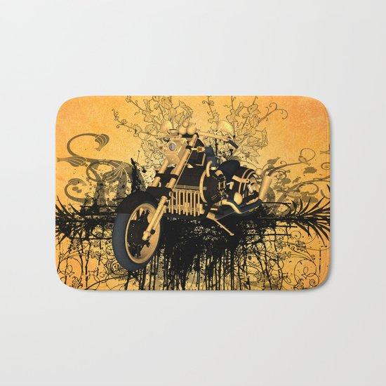 Steam motorcycle Bath Mat