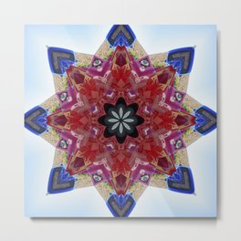 Red and blue classic trucks kaleidoscope Metal Print