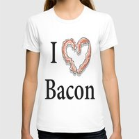 bacon T-shirts featuring I -bacon- Bacon by Beatrice