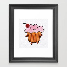 Happy Cupcake Framed Art Print