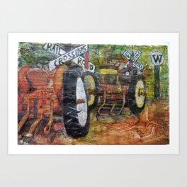 Tractors Art Print